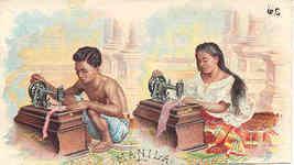 Singer Sewing Manila 1892 Victorian Trade Card - $7.00