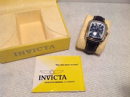 Luxury Invicta Chronograph Wrist Watch Limited Leather And Steel