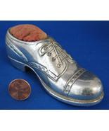 Pincushion Oxford Shoe Silver Plate Sewing Figural Figural Brogue 1930s ... - $20.00