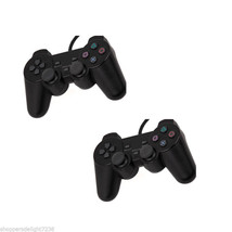 2X Black Twin Shock Game Controller Joypad Pad for Sony PS2 Playstation 2 - $29.98