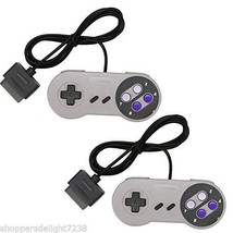 TWO 2 NEW 16 BIT CONTROLLER FOR SUPER NINTENDO SNES SYSTEM CONSOLE CONTR... - $16.99