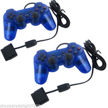 2X Blue Twin Shock Game Controller Joypad Pad for Sony PS2 Playstation 2 - $39.98