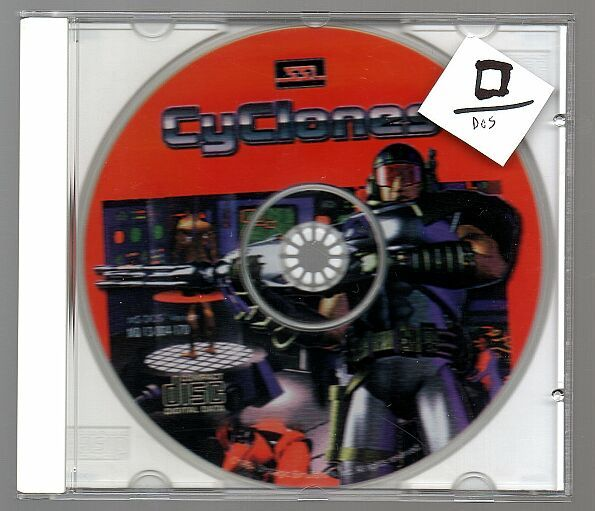 g Cyclones, Vintage DOS game, PC, First Person Shooter