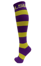 LSU Licensed Stripe Dress Socks - $12.95