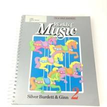 World Of Music Silver Burdett, 2nd Grade Hardcover Spiral Bound Teacher ... - $29.68