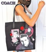 COACH Elvis Presley Collector Black Tote Bag Limited Edition Shoulder Pu... - ₹14,103.17 INR