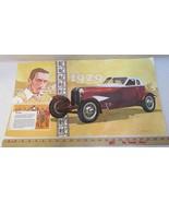 1929 Auburn Car Print Picture Laminated Walt Disney Mickey Mouse Adverti... - $12.86