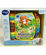 Vtech Baby Musical Rhymes Book 6+ Months 40 Songs Melodies Sounds Phrase... - $22.76