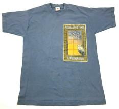VINTAGE Arizona Ghost Towns Shirt Size Medium Blue Double Sided Mining C... - $32.08