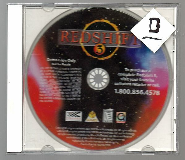 g Redshift 3 Demo, Vintage DOS game, PC, 1998, DEMO / shairwere