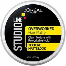 L'Oréal Paris Studio Line Overworked Hair Putty, 1.7 oz. - $5.46
