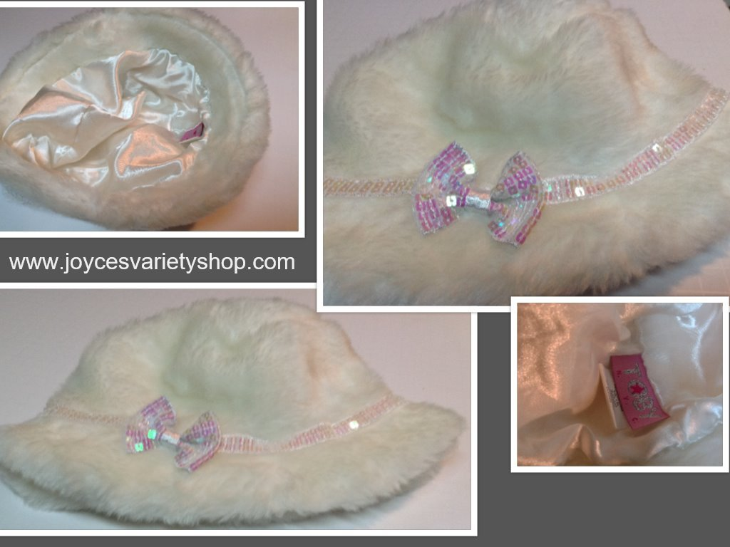 Toby ny white fau fur hat collage