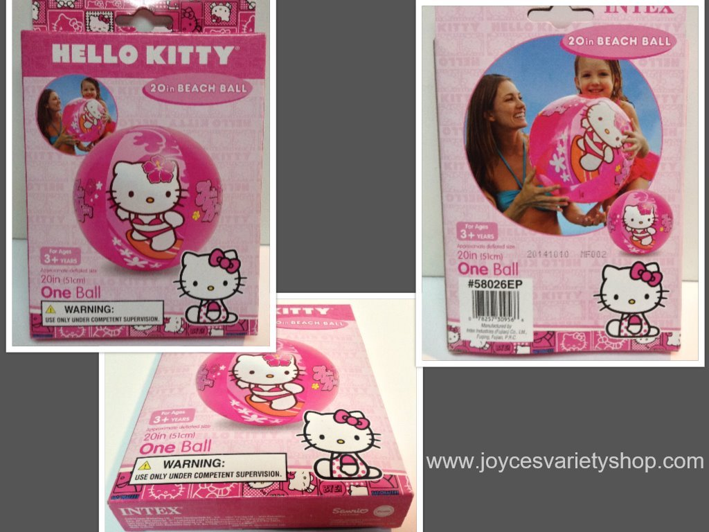 Hello kitty beach ball collage