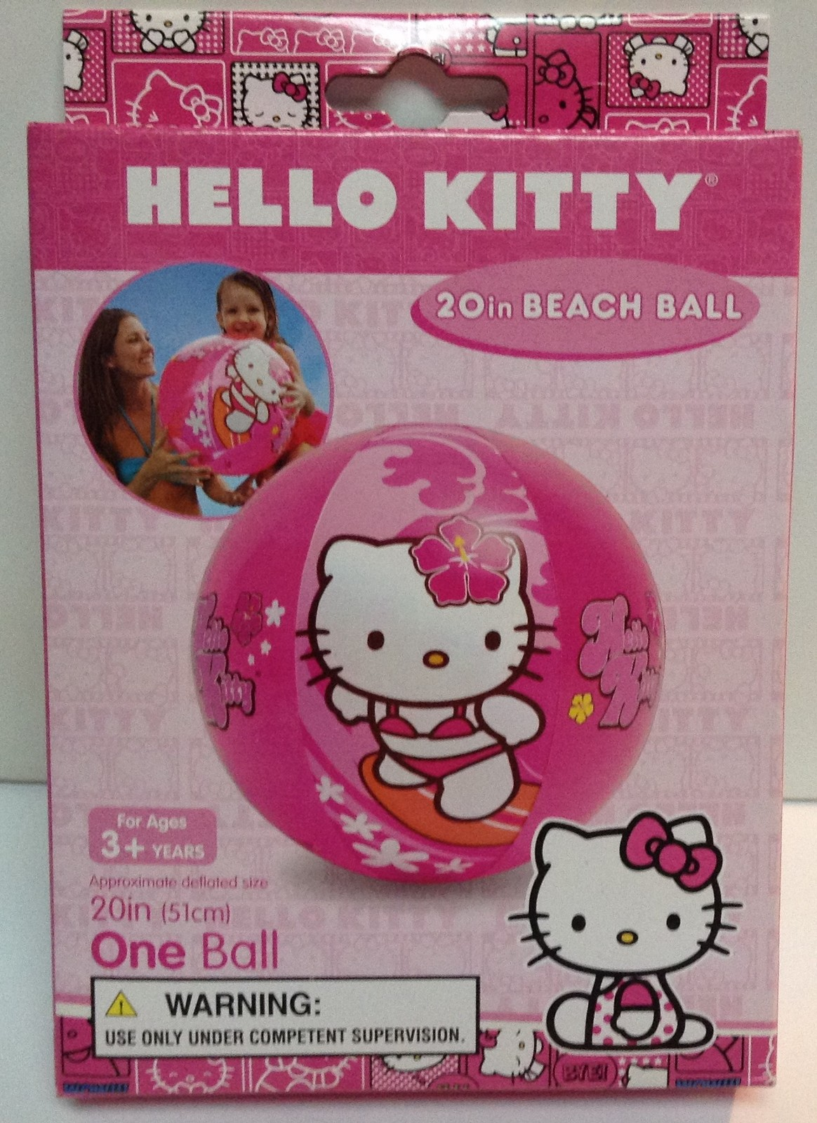 "Hello Kitty Swim Beach Ball 20"" NIB Ages 3-6 Years"