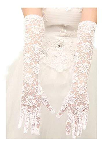 The Bride Marriage Yarn Dress Lace Long Gloves Wedding Gloves White