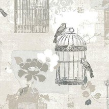 Victorian Birdcage Wallpaper Sidewall Norwall Wallcovering KE29946 - $40.99