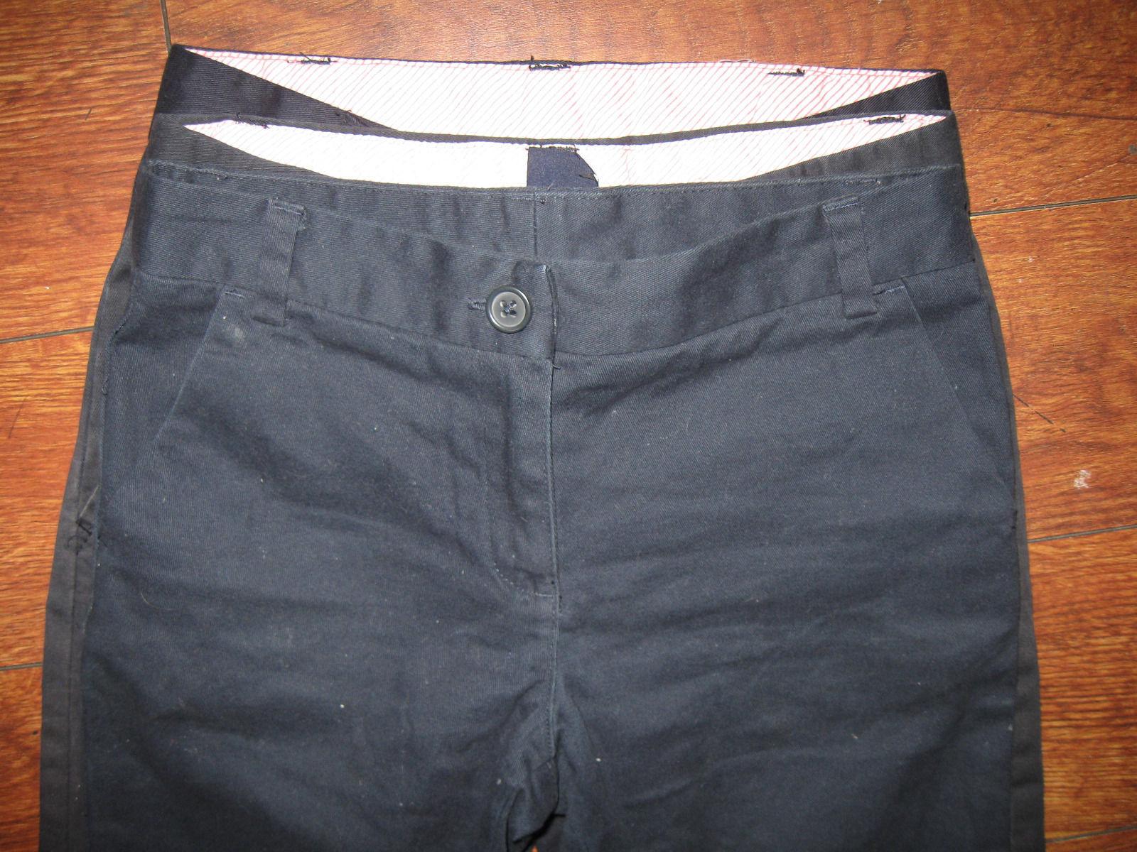 Gap NWT Boys Navy Black Relaxed Khakis in Stretch School Uniform Pants 5 6 12 14