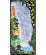 Waterfall: Quilted Art Wall Hanging - $390.00