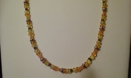 Handmade Multi Crystal Beaded Necklace  - $6.99
