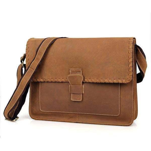 Sale, Vintage Messenger Bag, Leather Messenger Bag, Men's Fossil Messenger Bag image 2