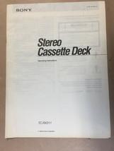 Sony TC-RX311 Cassette Owners Manual *Original* - $8.60