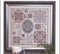 One Dozen Quakers motif sampler cross stitch chart Rosewood Manor - $13.00