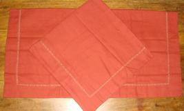 Martha Stewart Collection 2 Euro Pillow Shams Rust Orange Cotton NWOP - $29.97