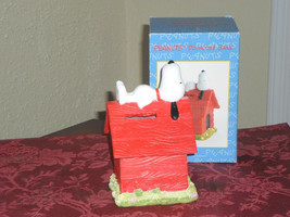 Peanuts Snoopy on Dog House Coin Bank - $19.99