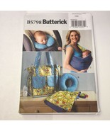 Butterick 5798 Baby's Changing Pad Neck Support Carrier Diaper Bag - $11.64