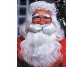 Christmas - Santa Claus Beard & Wig - Professional - Old Man St. Nick Pe... - $29.07