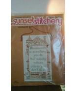 "Sunset Stitchery ""HOUSEWORK IS..."" beginning stitchery kit sealed 11x18 ... - $12.19"