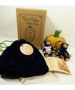 Robert Raikes Original Peter & Wife BEAR Pumpkin Figure set Mint box Sig... - $158.40