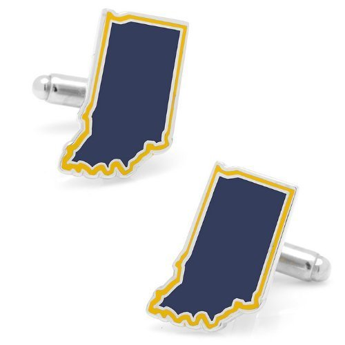 Mens Plated Navy Indiana Cufflinks Blue - $49.00
