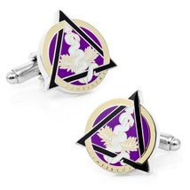 Mens Plated Dental Caduceus Cufflinks - $49.00
