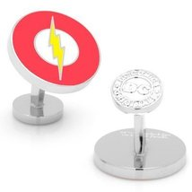 DC Comics Silver Plated Flash Logo Cufflinks - $58.80