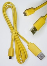 MHP 1m Yellow USB 2.0 Micro B USB Data Cable. For Mobiles / Camera and C... - $9.78