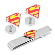 DC Comics Superman Shield Cufflinks Tie Bar Gift Set - $78.40