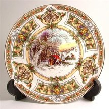 Caverswall Christmas 1988 plate LE 1000 only Stephen Barnsley CP354 - $78.40