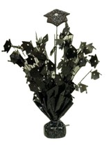 "2 pieces Black Graduation Centerpiece 14"" tall with foam graduation hat - $9.85"