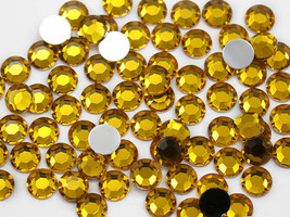 2.5mm SS9 Gold Topaz A02 Acrylic Rhinestones High Quality - 500 PCS - $8.54