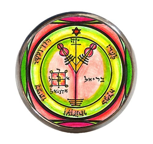 Solomons 4th Jupiter Seal for Wealth & Honor Gunmetal Adjustable Ring