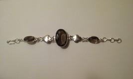 Smoky Quartz Genuine Gemstone Bracelet  - $24.99
