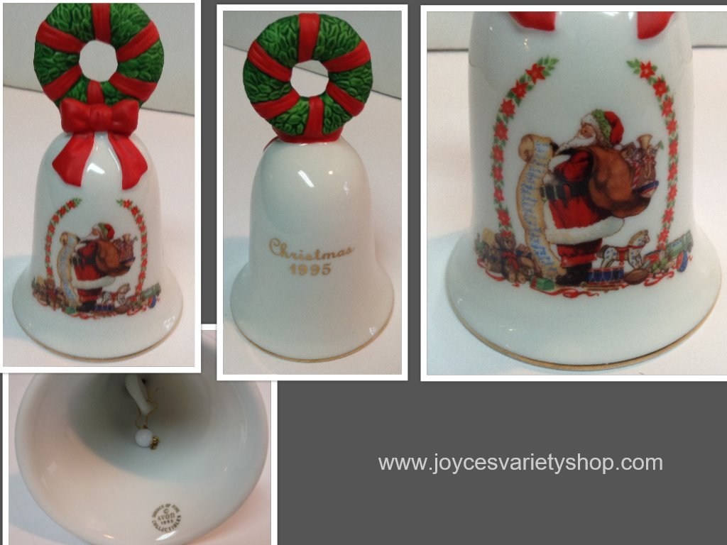 Avon 1995 christmas bell collage