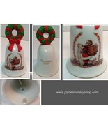 Avon Christmas Bell 1995 Porcelain Santa and Christmas List - $15.99