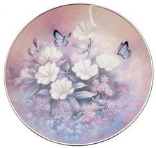 c1992 Knowles Jewels of the Flowers Aquamarine Glimmer Tan Chun Chiu pla... - $68.59
