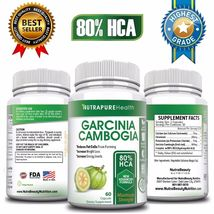 100% PURE GARCINIA CAMBOGIA EXTRACT 80% HCA Diet Pills Weight Loss Fat B... - $19.99