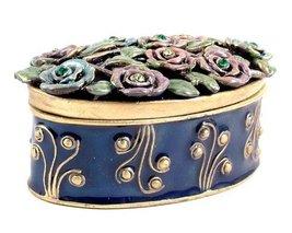 Enamel and coloured diamante metal trinket box design 1 - $49.00