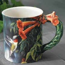 Summer Ruby-throated Hummingbird Sculpted Mug - $24.95