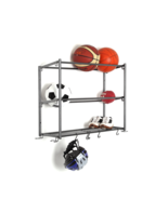 NEW 3-Tier Wall Mount Sports Rack Multi-Use Storage Rack By Hyper Tough - $32.71