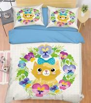 3D Cute Cat 273 Bed Pillowcases Quilt Duvet Cover Set Single Queen King Size AU - $90.04+